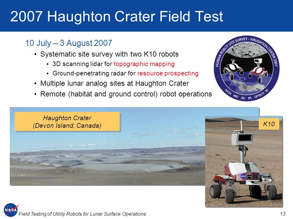 2007 Haughton Crater Field Test