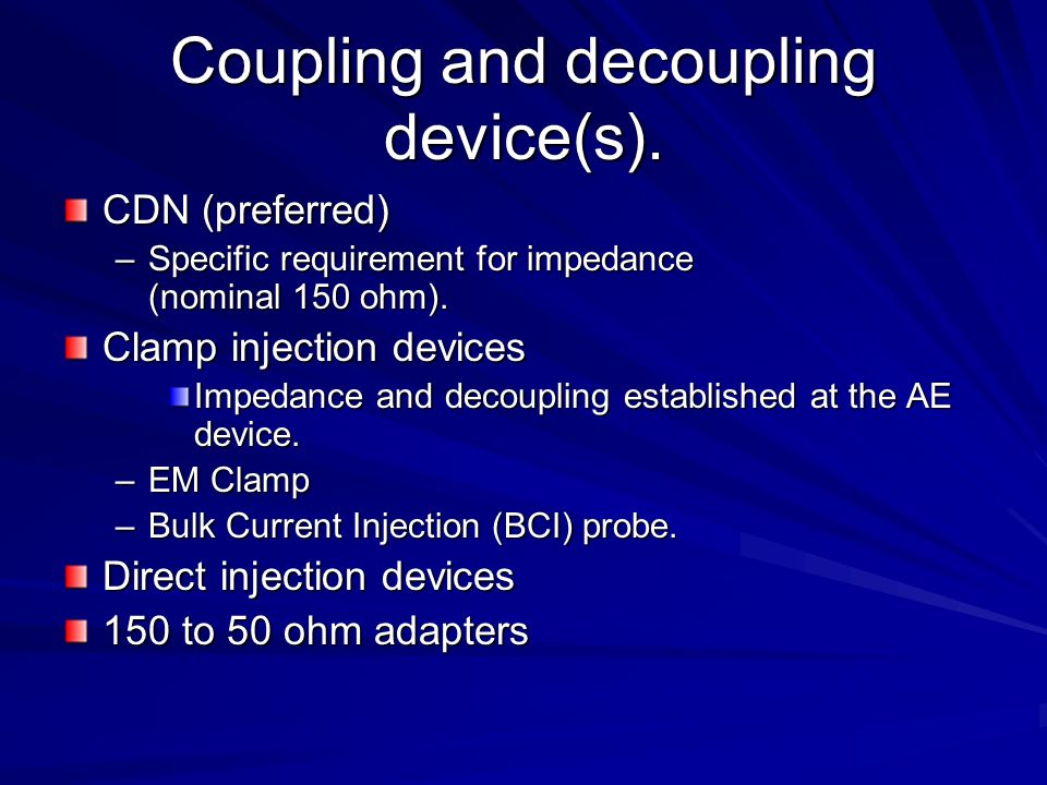 Coupling and decoupling device(s).
