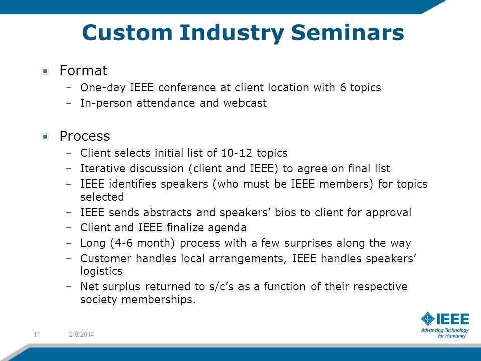 Custom Industry Seminars