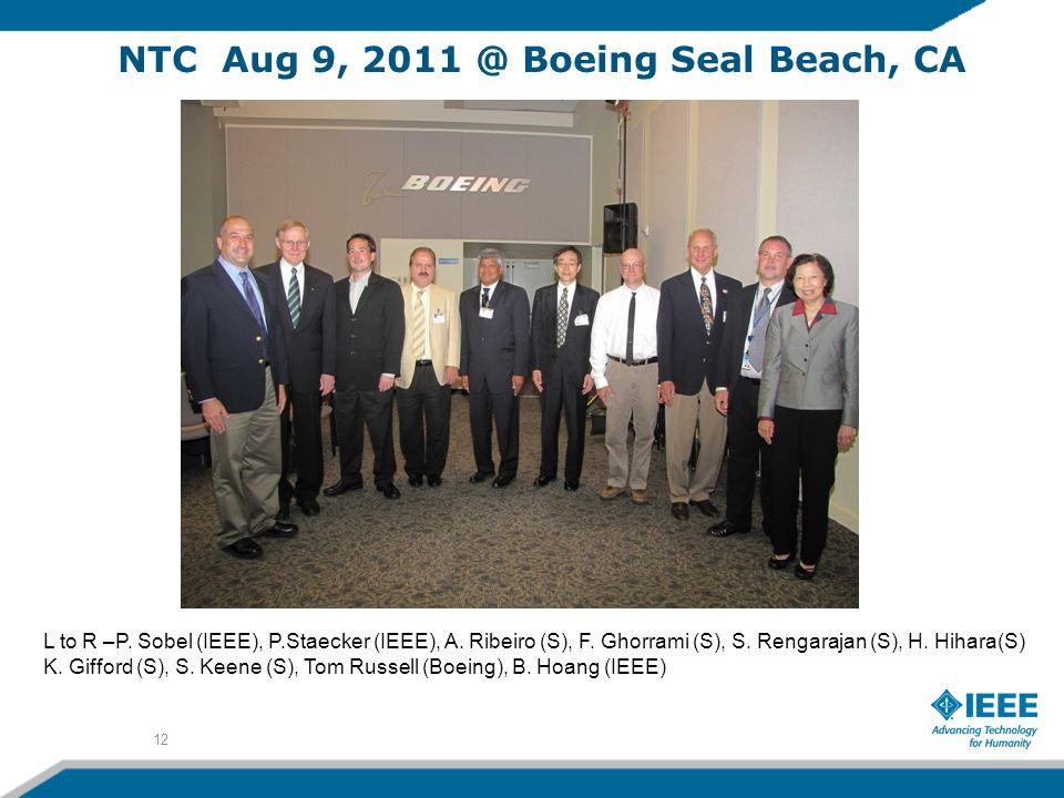 NTC Aug 9, 2011 @ Boeing Seal Beach, CA