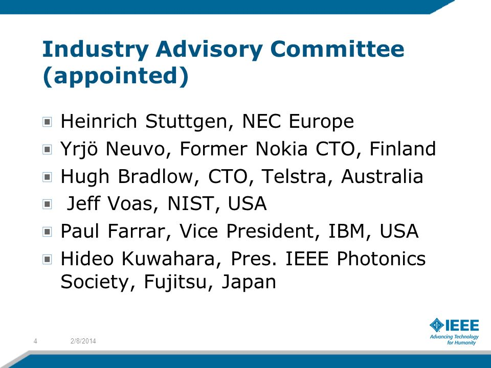 Industry Advisory Committee (appointed)
