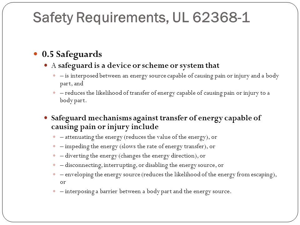 Safety Requirements, UL 62368-1