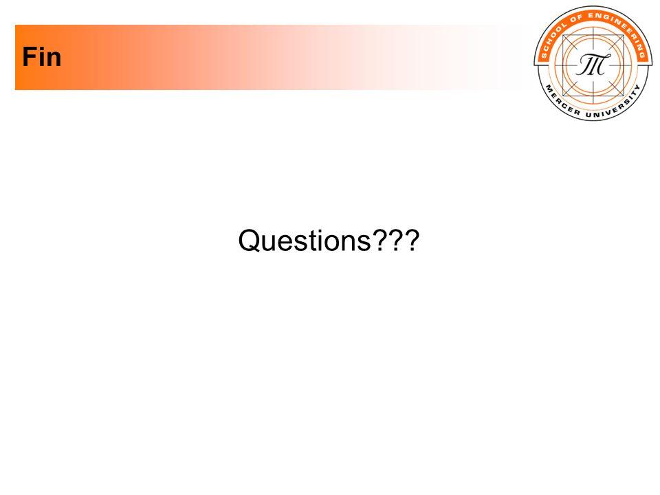 Fin Questions