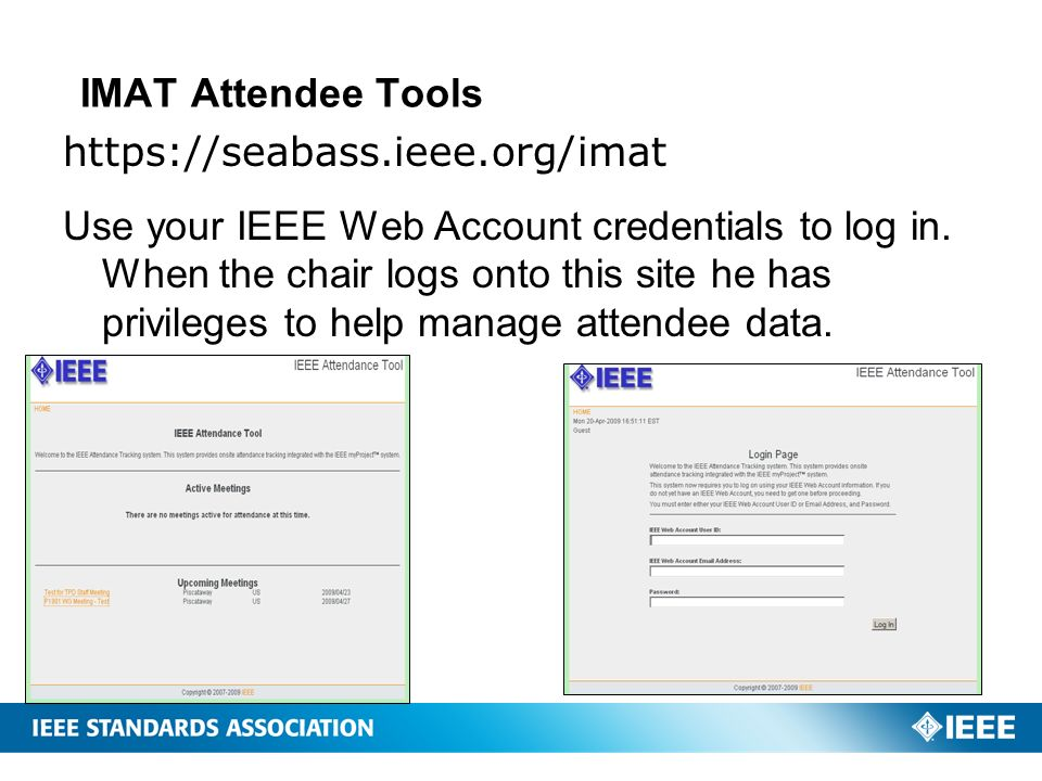 IMAT Attendee Tools