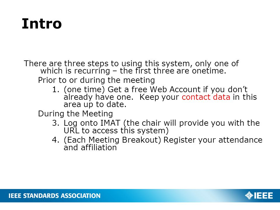 Intro There are three steps to using this system, only one of which is recurring – the first three are onetime.