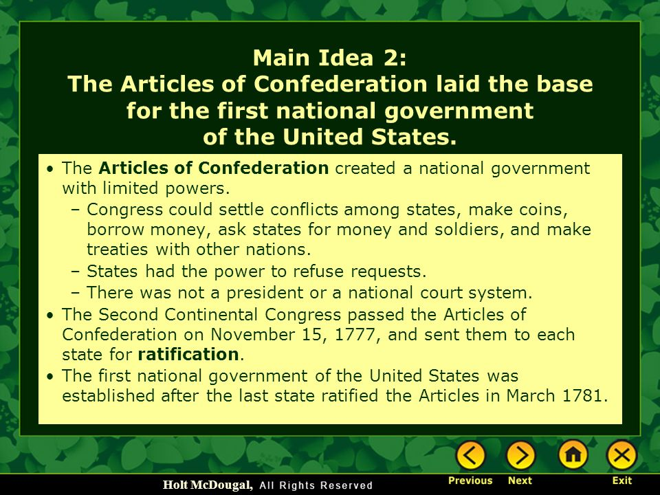 how are the powers of the national government limited An explanation of federalism, the system of exclusive and shared powers granted to the national and state governments, by the us constitution.