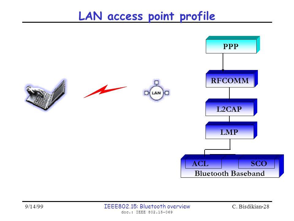 LAN access point profile