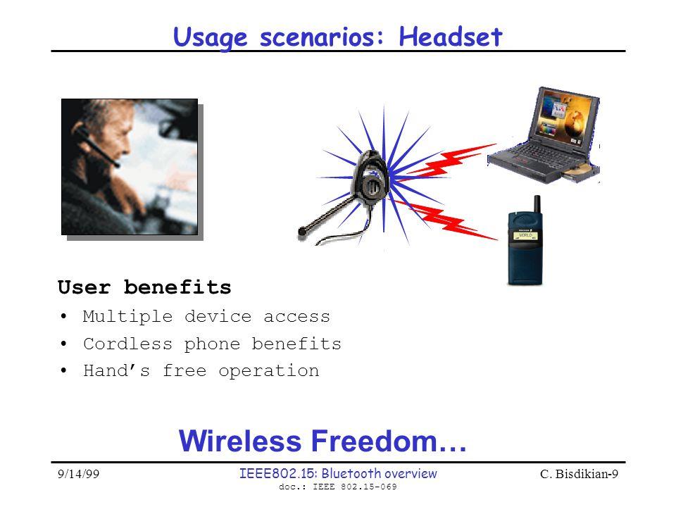 Usage scenarios: Headset