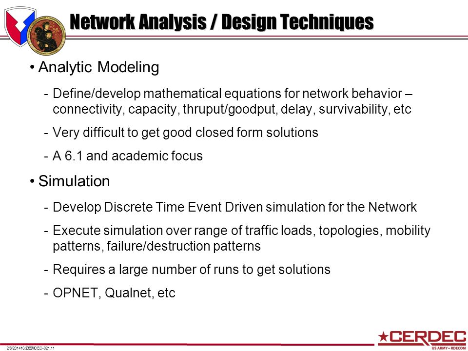 Network Analysis / Design Techniques