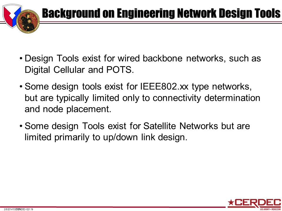 Background on Engineering Network Design Tools