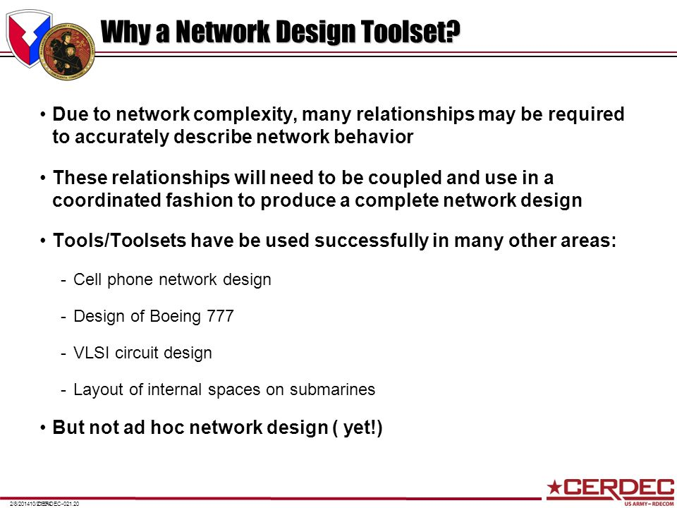 Why a Network Design Toolset