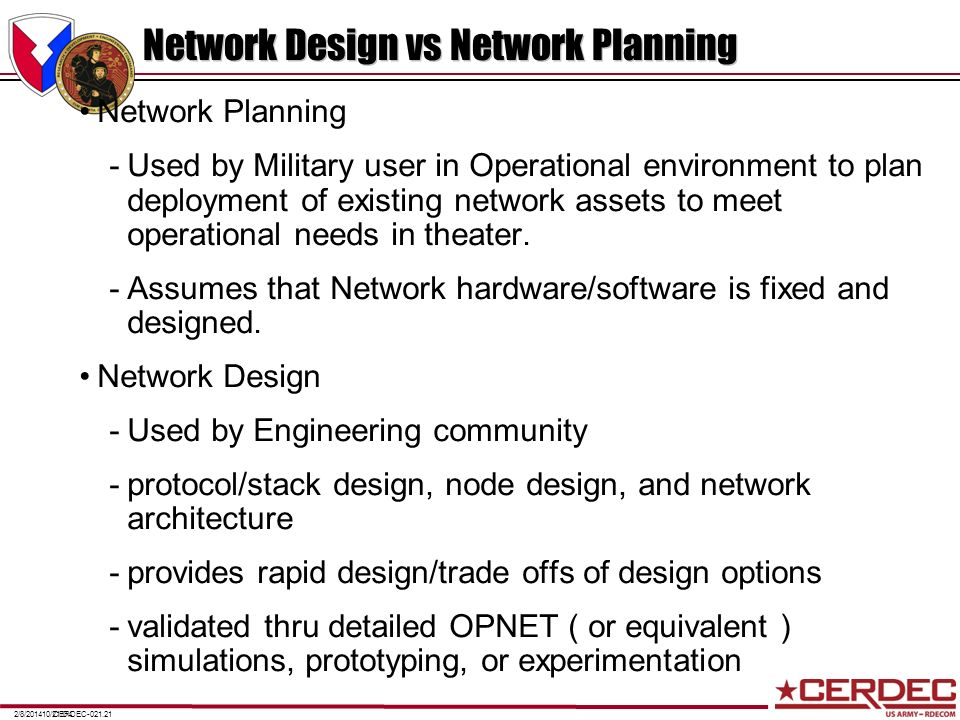 Network Design vs Network Planning