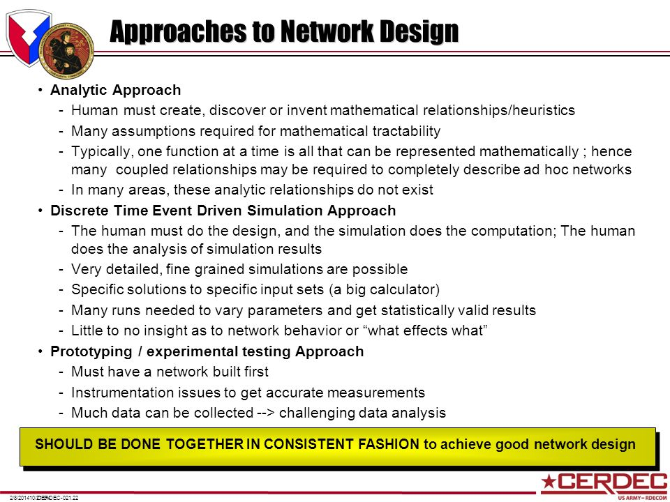 Approaches to Network Design