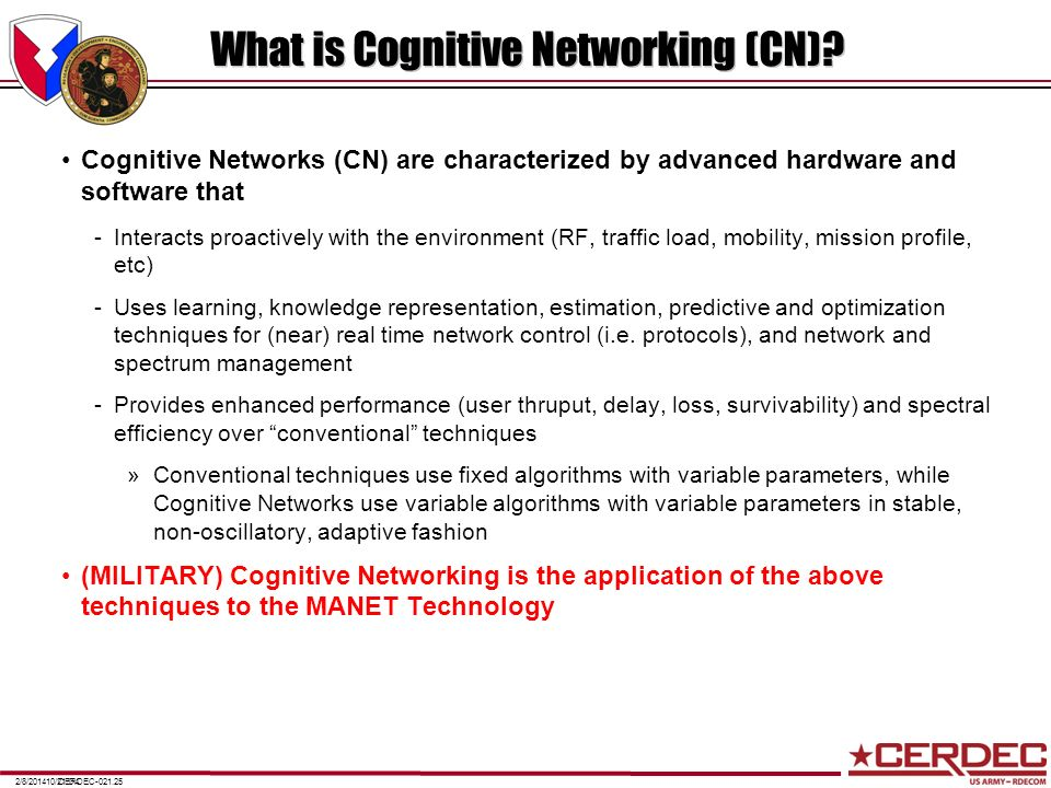What is Cognitive Networking (CN)