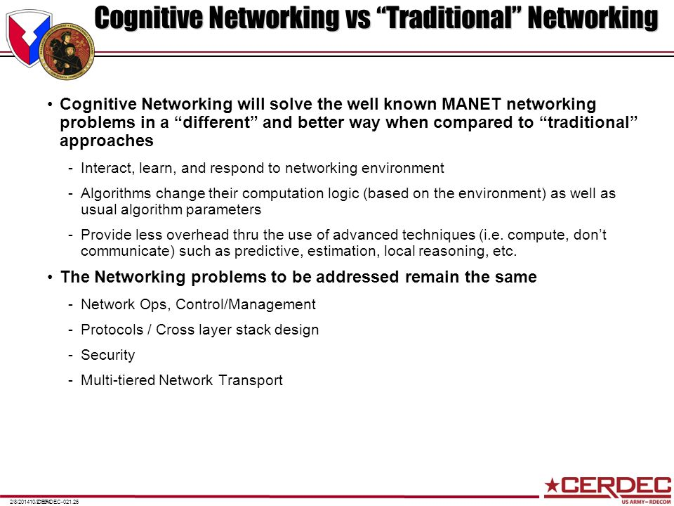 Cognitive Networking vs Traditional Networking