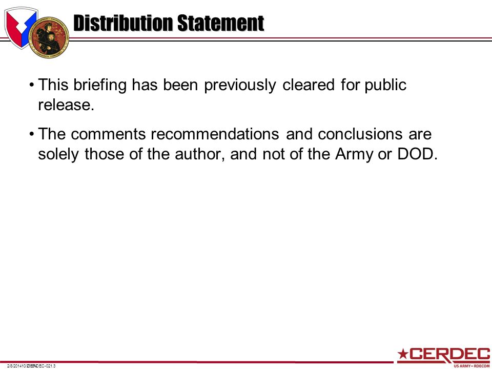 Distribution Statement