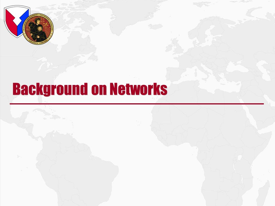 Background on Networks