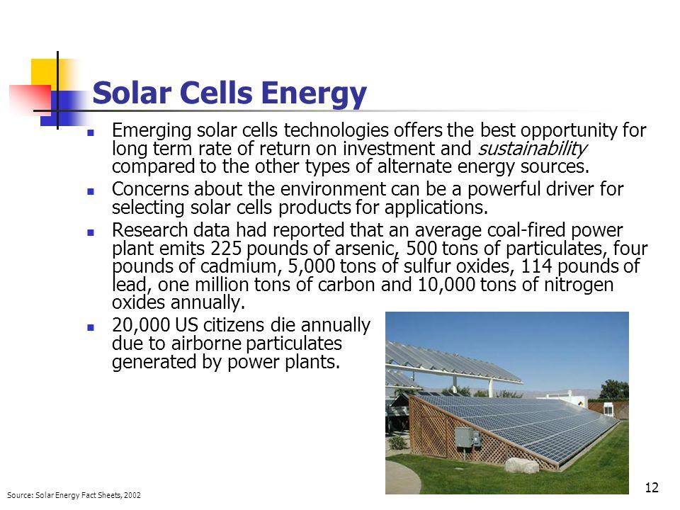 Solar Cells Energy
