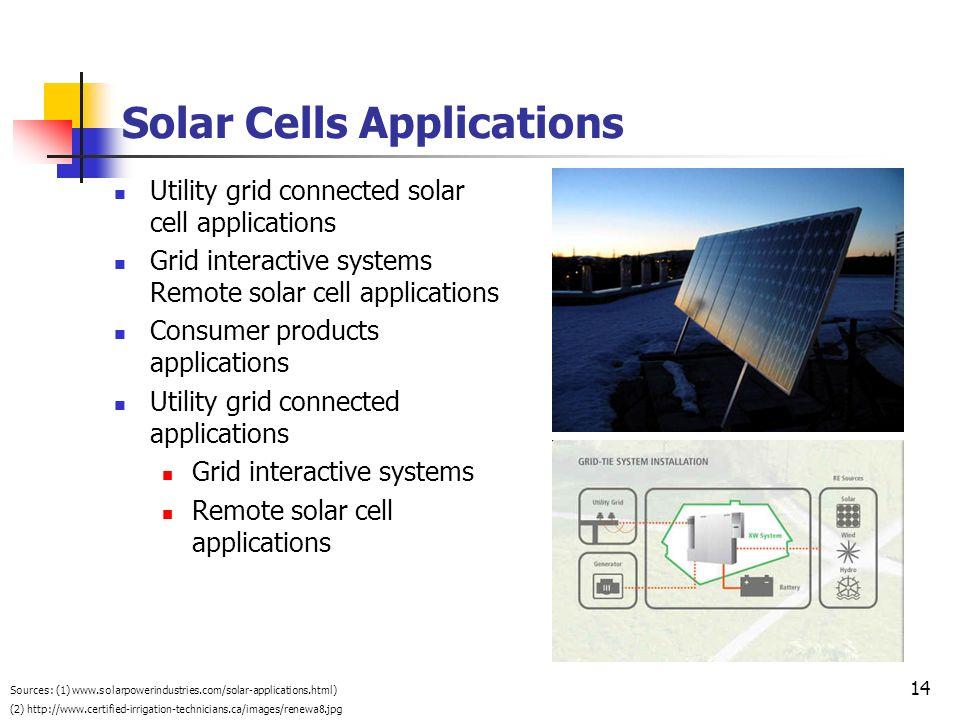 Solar Cells Applications