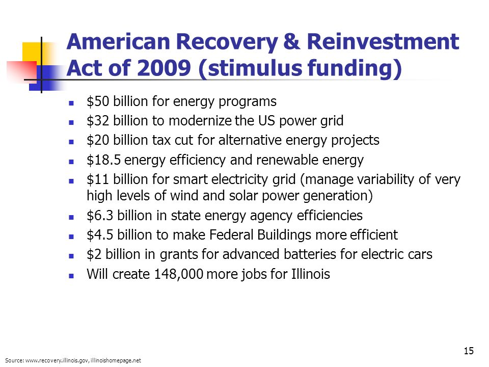 American Recovery & Reinvestment Act of 2009 (stimulus funding)