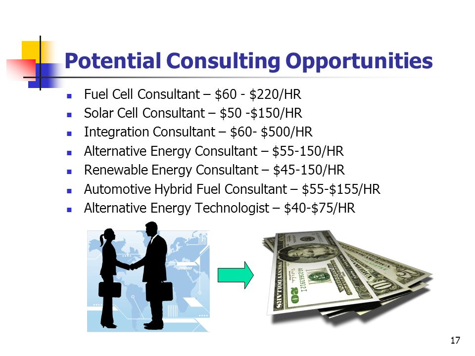 Potential Consulting Opportunities