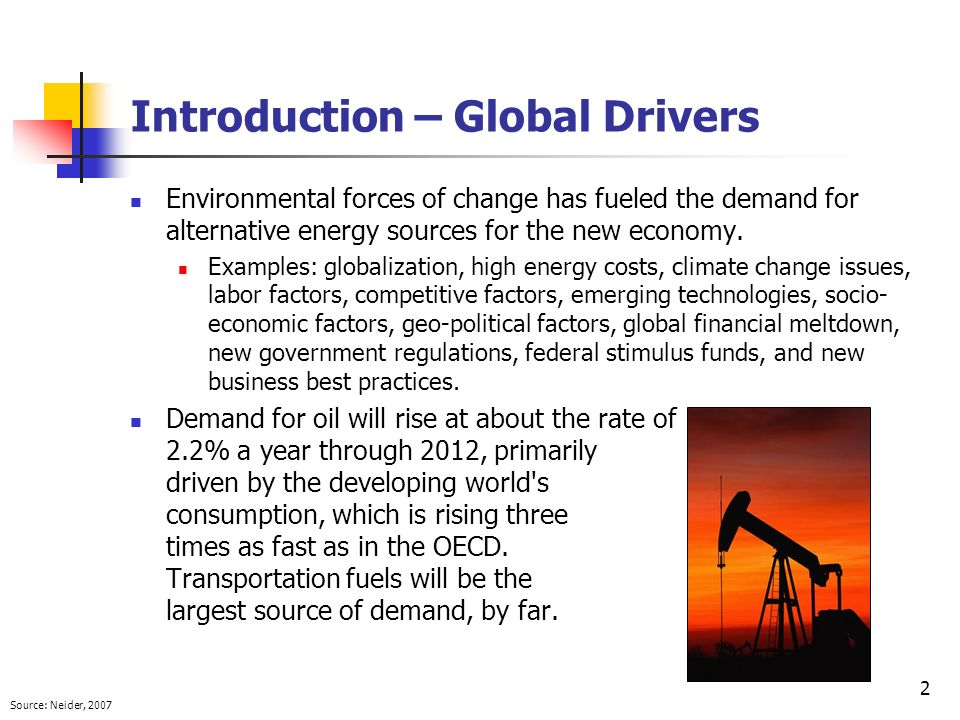 Introduction – Global Drivers