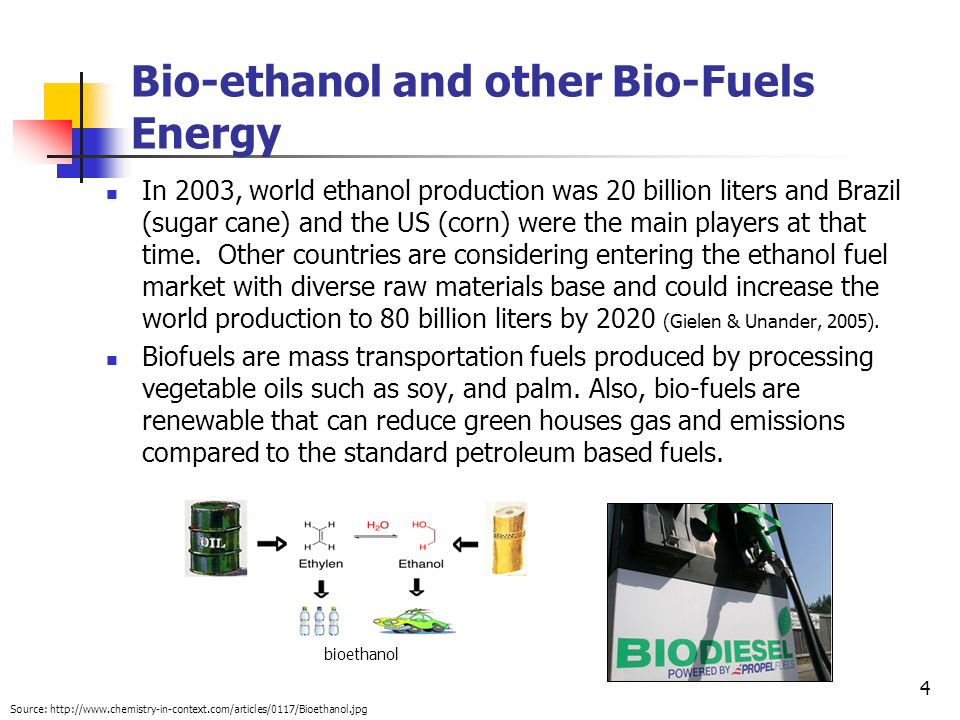 Bio-ethanol and other Bio-Fuels Energy