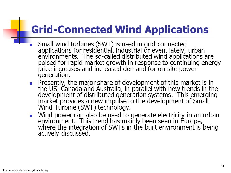Grid-Connected Wind Applications