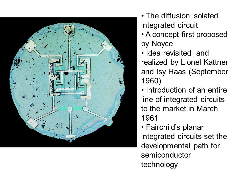 The diffusion isolated integrated circuit