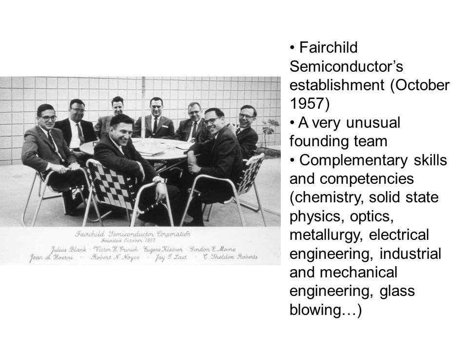 Fairchild Semiconductor's establishment (October 1957)