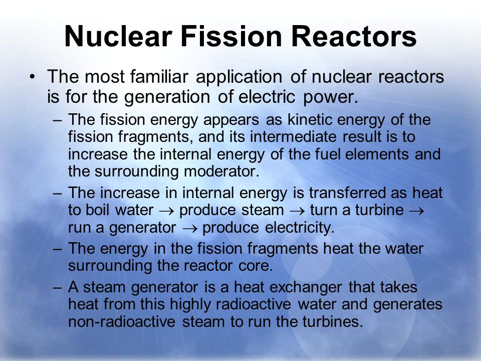 nuclear energy and its applications