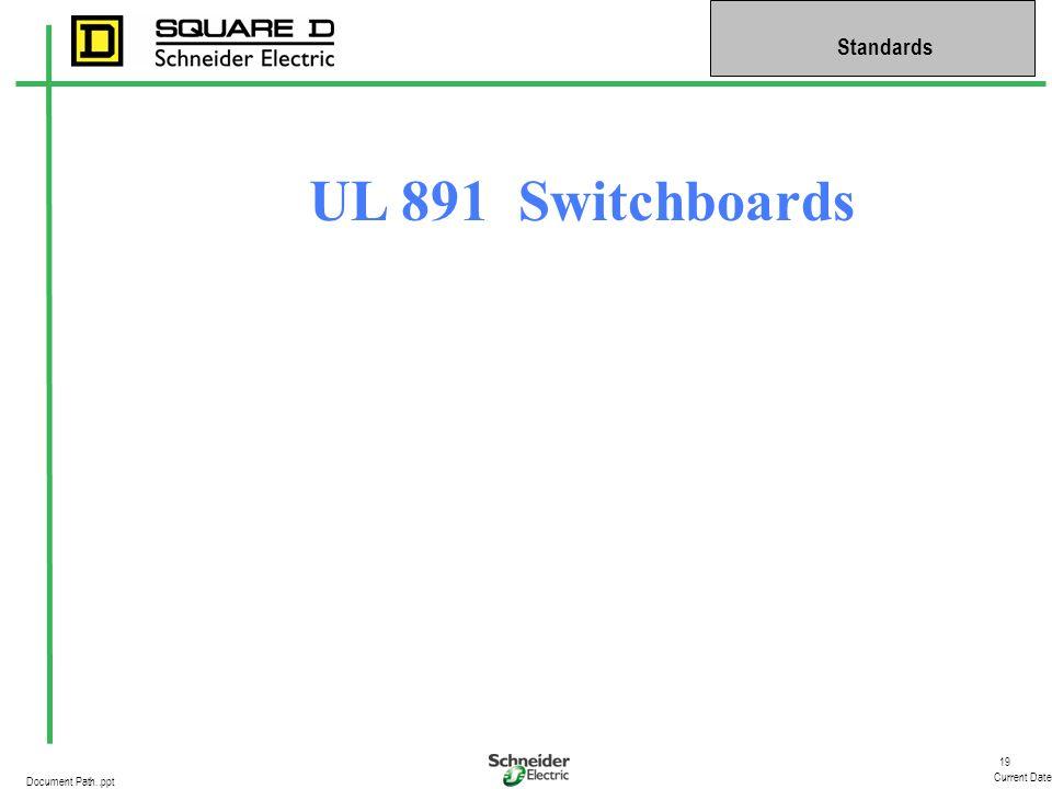 UL 891 Switchboards
