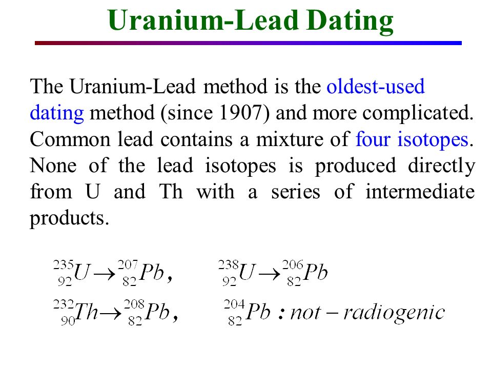 uranium and lead dating