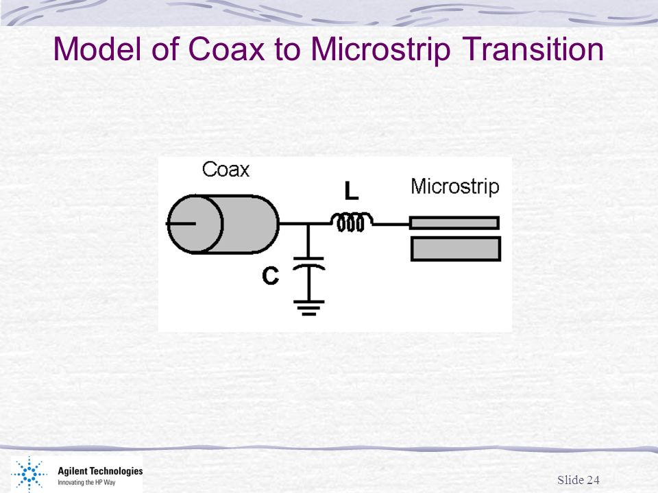 Model of Coax to Microstrip Transition