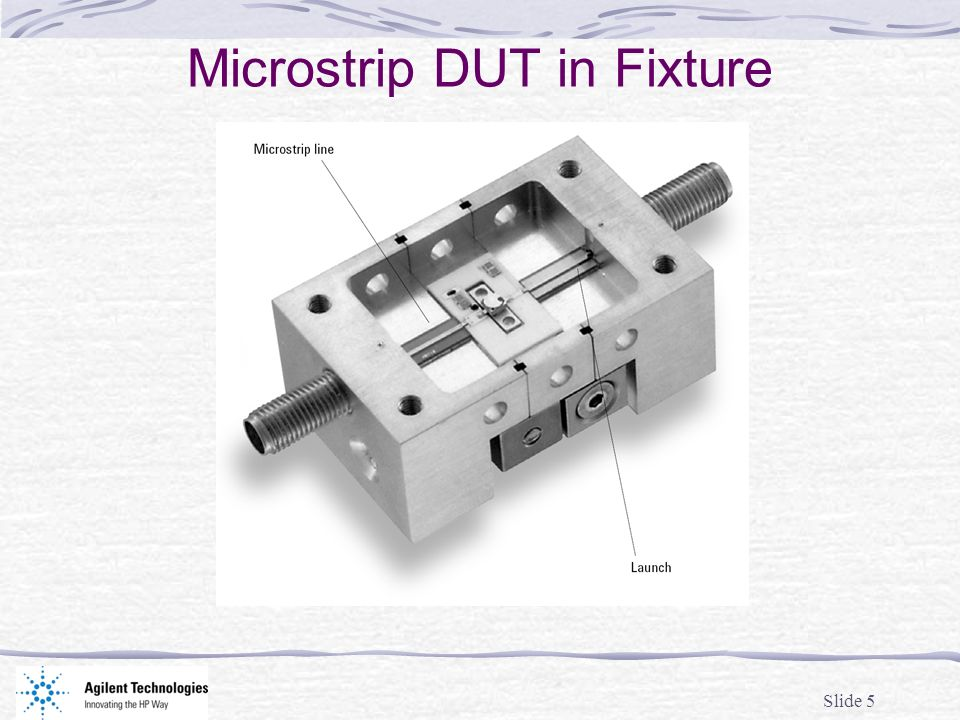 Microstrip DUT in Fixture