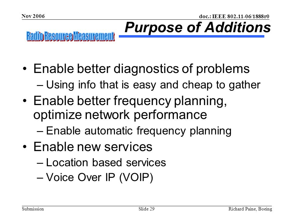 Purpose of Additions Enable better diagnostics of problems