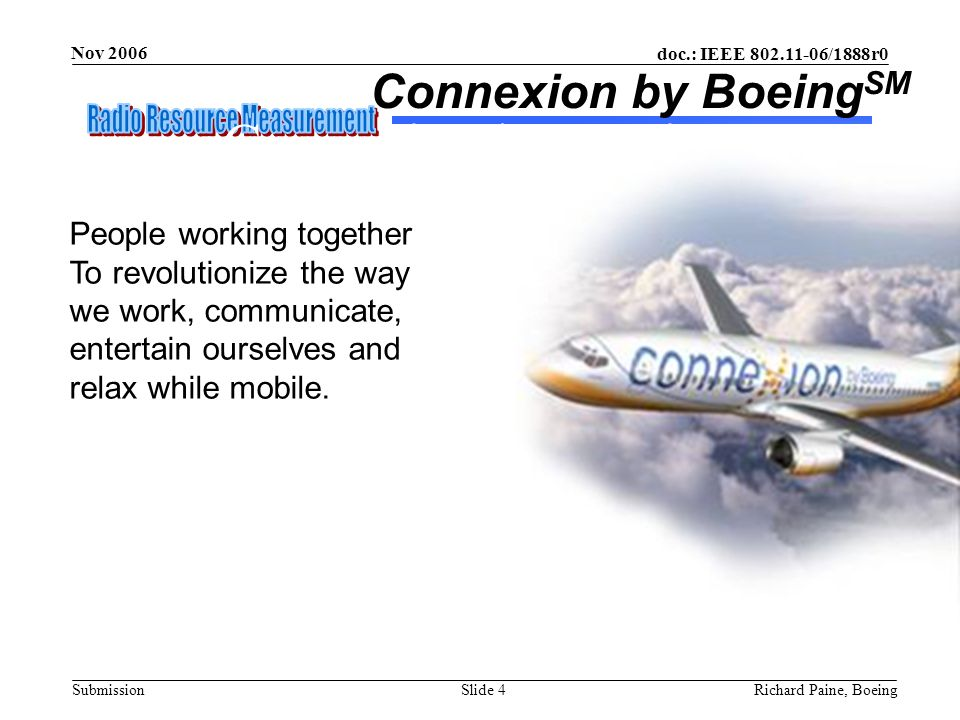 Connexion by Boeing Connexion by BoeingSM People working together