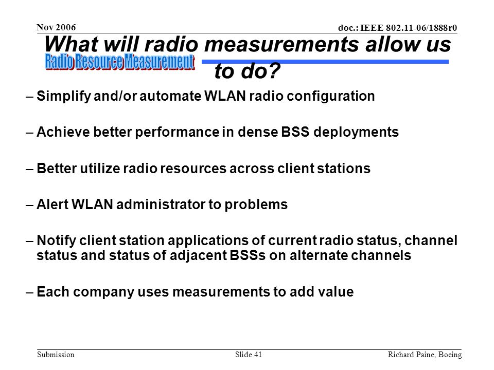 What will radio measurements allow us to do