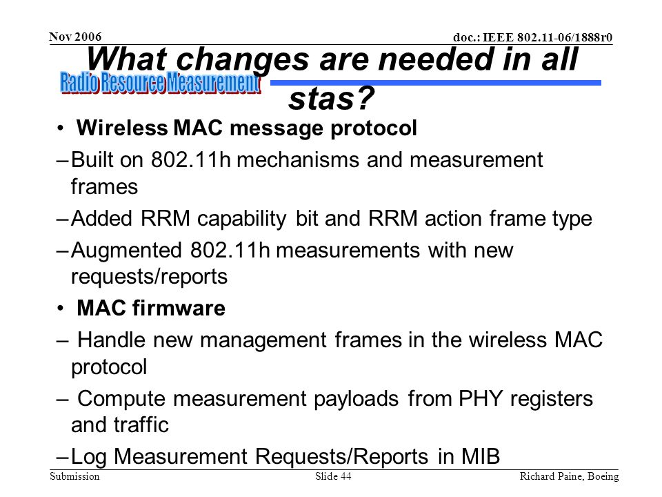 What changes are needed in all stas