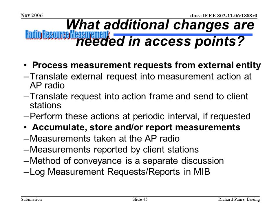 What additional changes are needed in access points