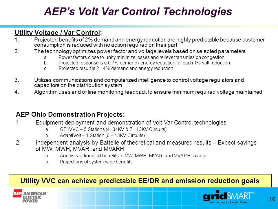 Utility VVC can achieve predictable EE/DR and emission reduction goals