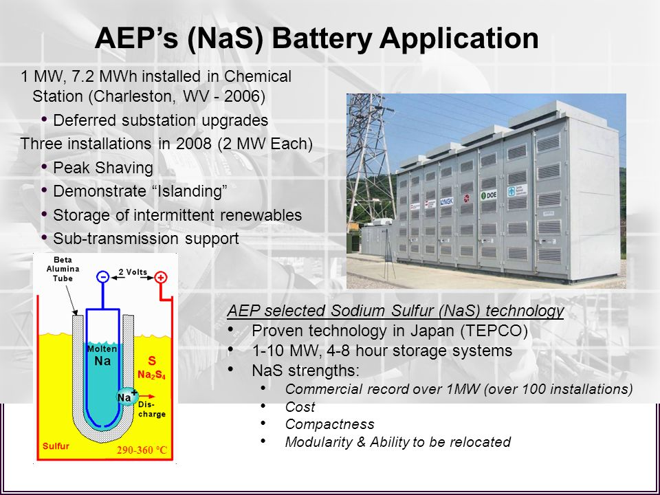 AEP's (NaS) Battery Application