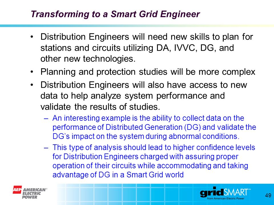 Transforming to a Smart Grid Engineer