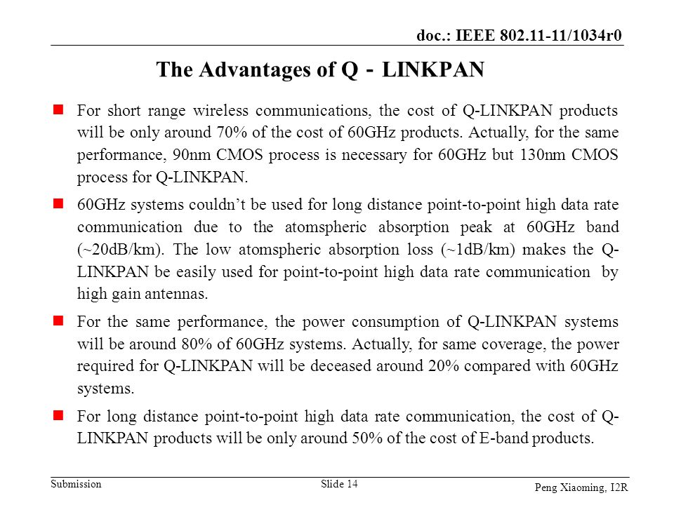 The Advantages of Q-LINKPAN