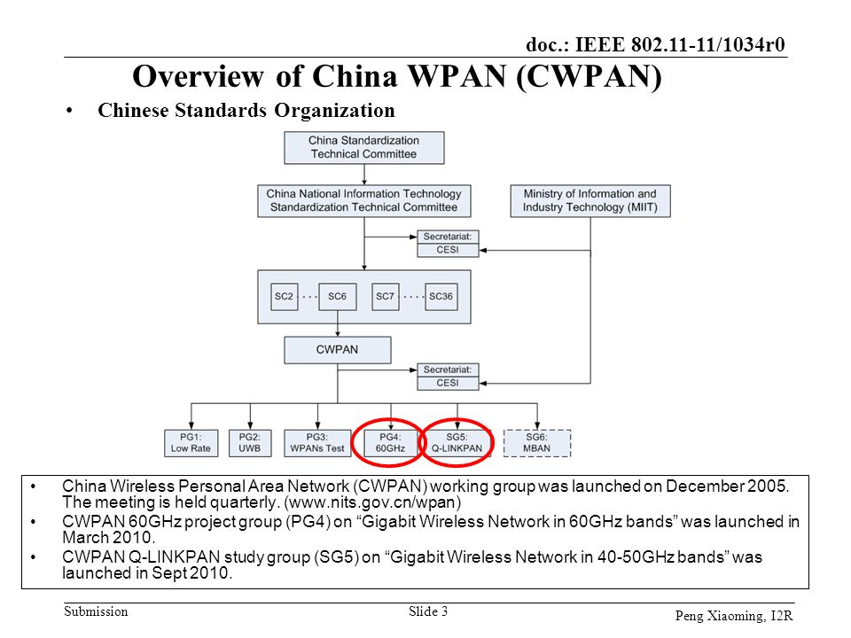 Overview of China WPAN (CWPAN)