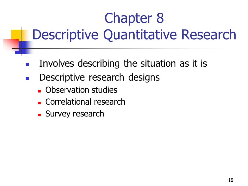 describe quantitative research Discover the difference between qualitative and quantitative market research   qualitative methods may be the only feasible means of conducting the research.