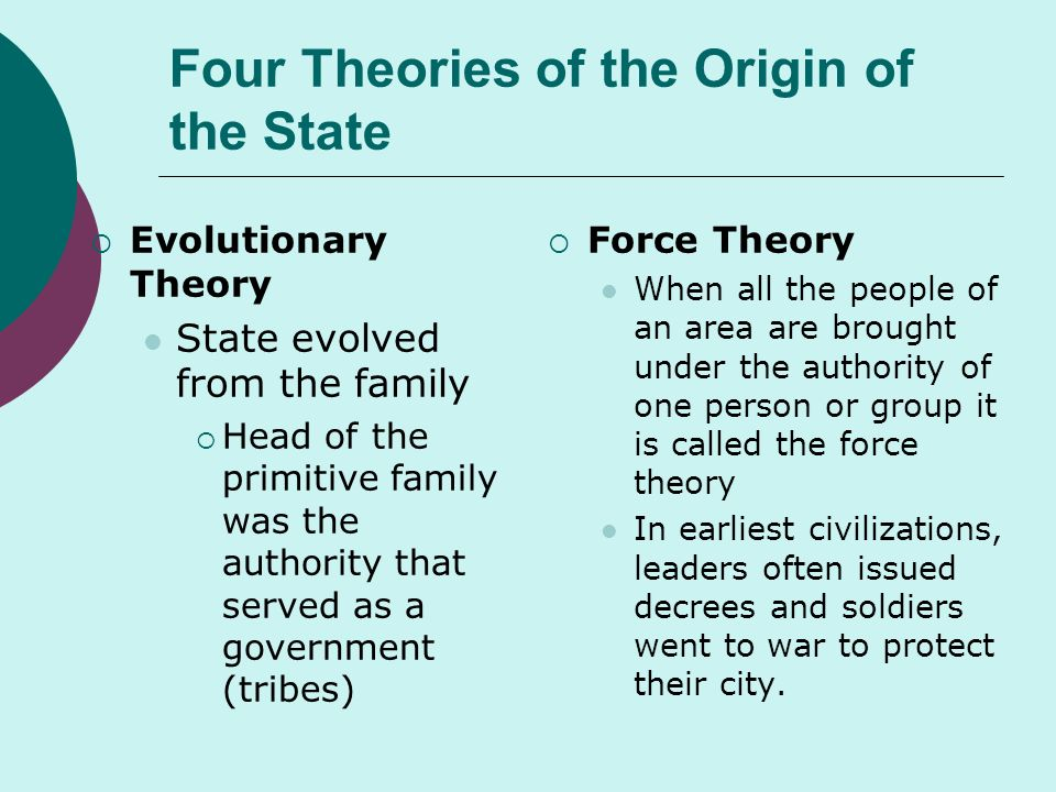 four theories of government essay The four cornerstone theories of the financial markets term paper essay: an analysis into the four theories evaluate the role of the federal government.