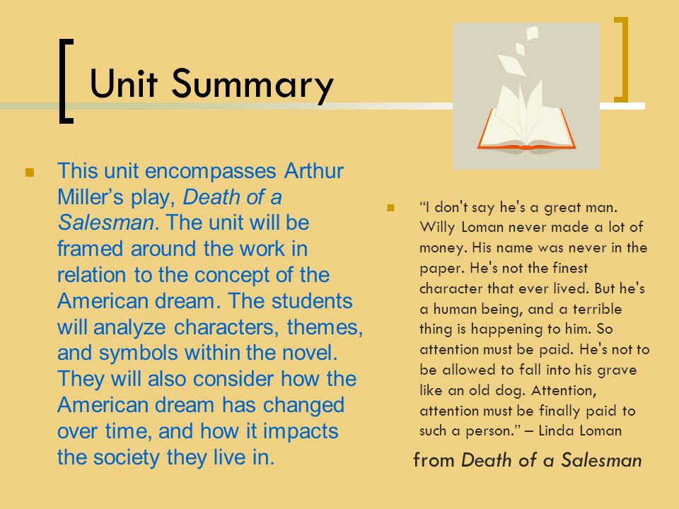 death of a salesman thesis Stuck writing a death of a salesman essay we have many death of a salesman example essays that answers many essay questions in death of a salesman.
