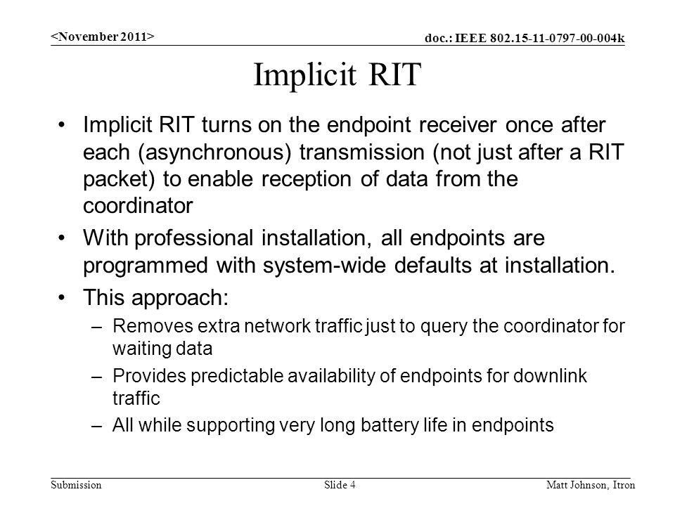 <November 2011> Implicit RIT.