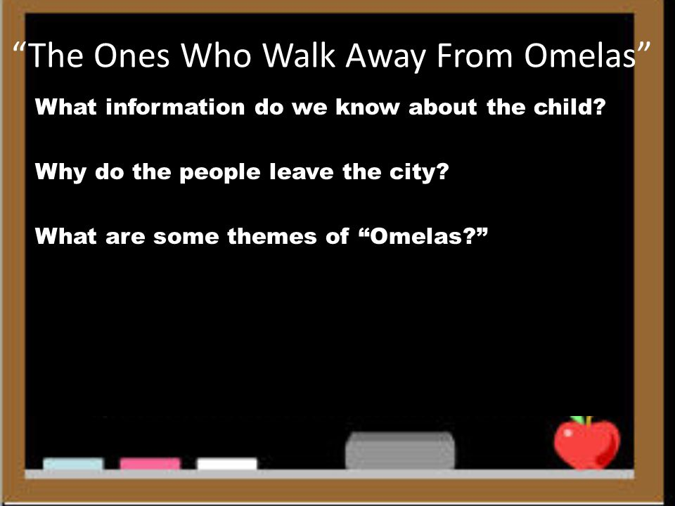 "ursula k le guins the ones who walks away from omelas essay Ursula le guin: short stories study essay editing services literature in ""the ones who walk away from omelas"", le guin gives a story based on a variation."